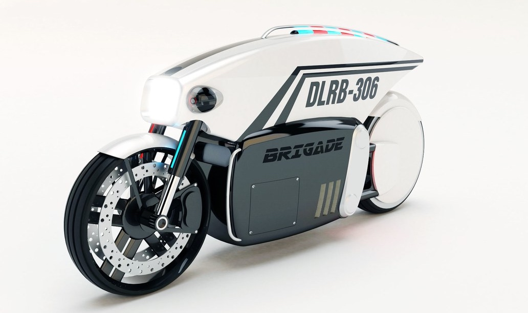 Brigade DLRB-306, la moto autónoma con radar y emisora de multas