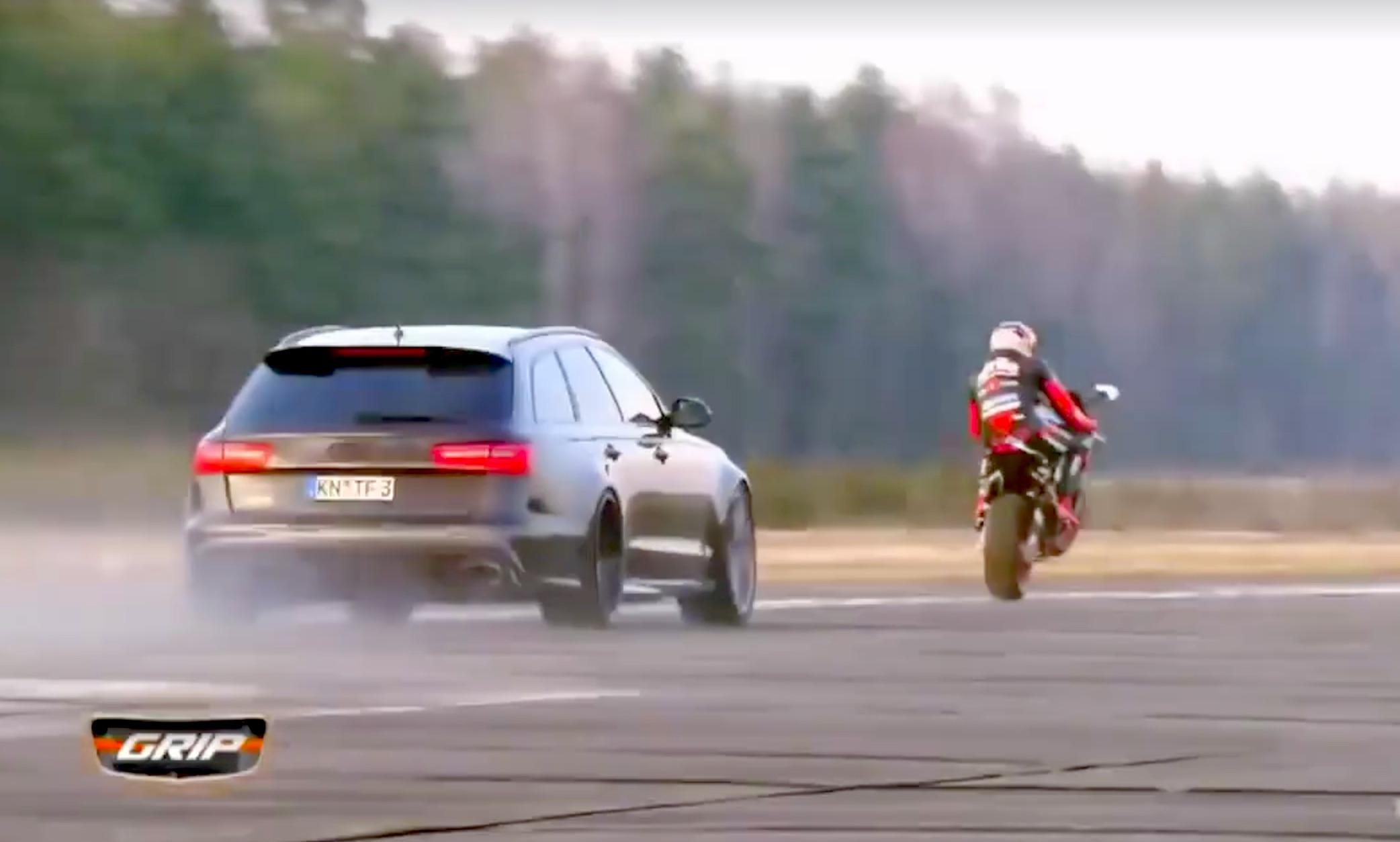 Audi RS6 800 CV vs Aprilia RSV4 con Stefan Bradl, hagan sus apuestas