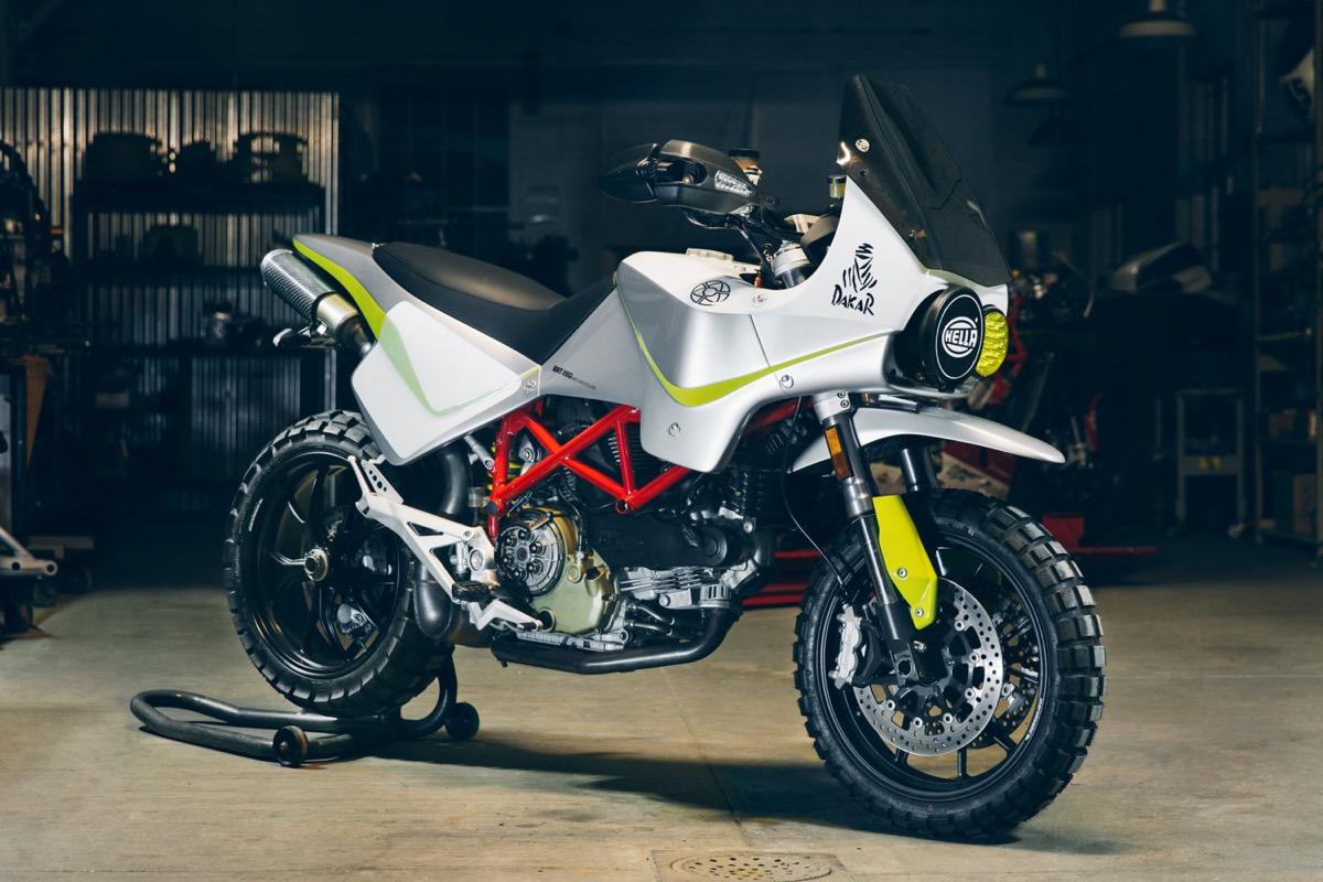 Ducati Adventure, la Hypermotard se va al Dakar gracias a Walt Siegl