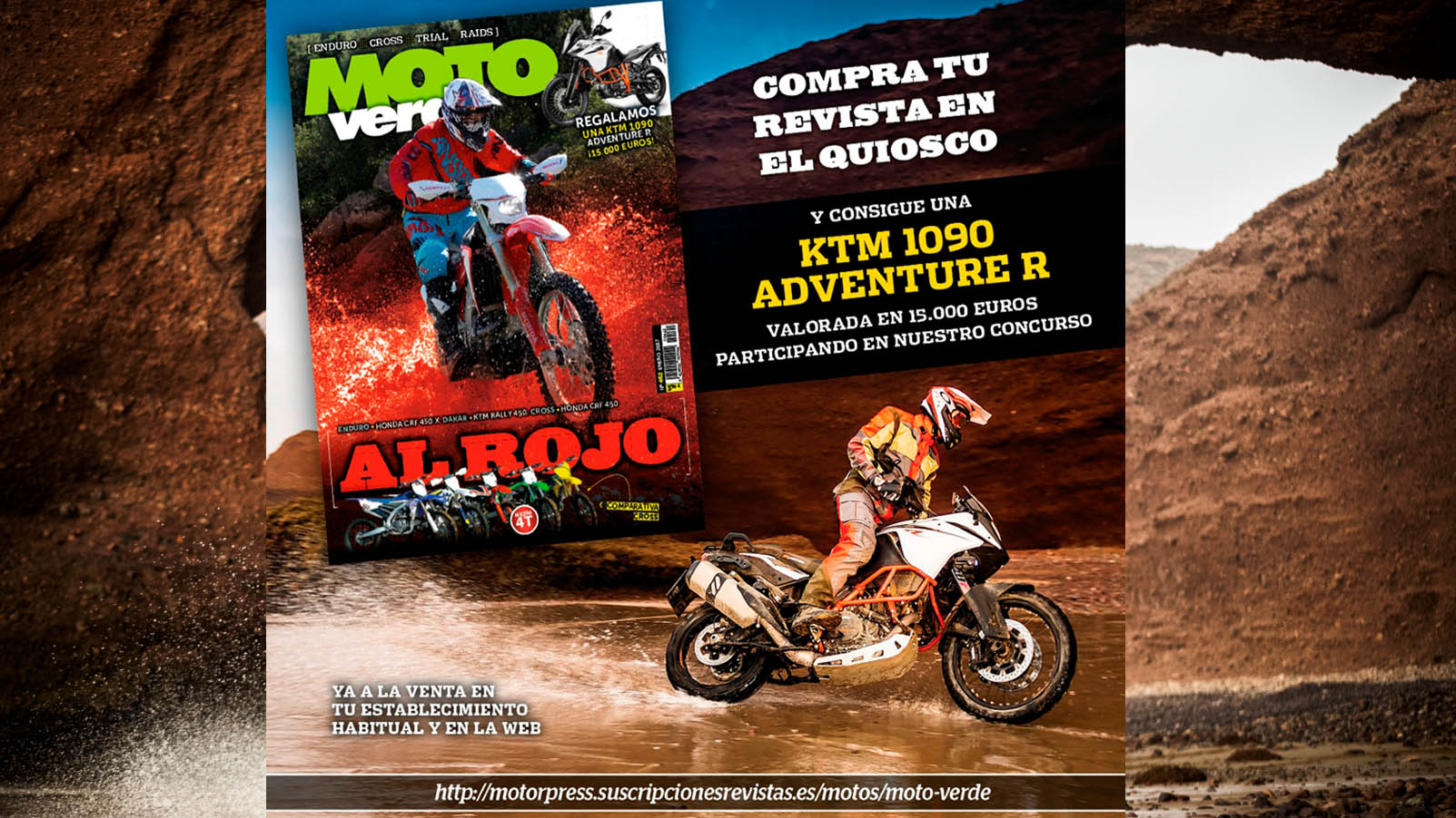 ¿Quieres ganar una KTM 1090 Adventure R, valorada en 15.000 €?