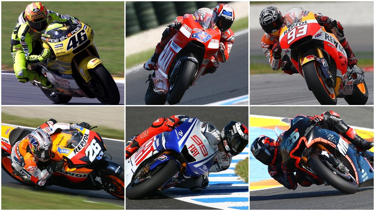 Comparativa de los grandes pilotos de MotoGP cuando cumplieron 22 años