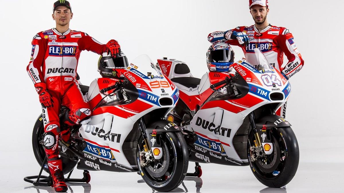 Jorge Lorenzo y Andrea Dovizioso presentan la Ducati para MotoGP 2017