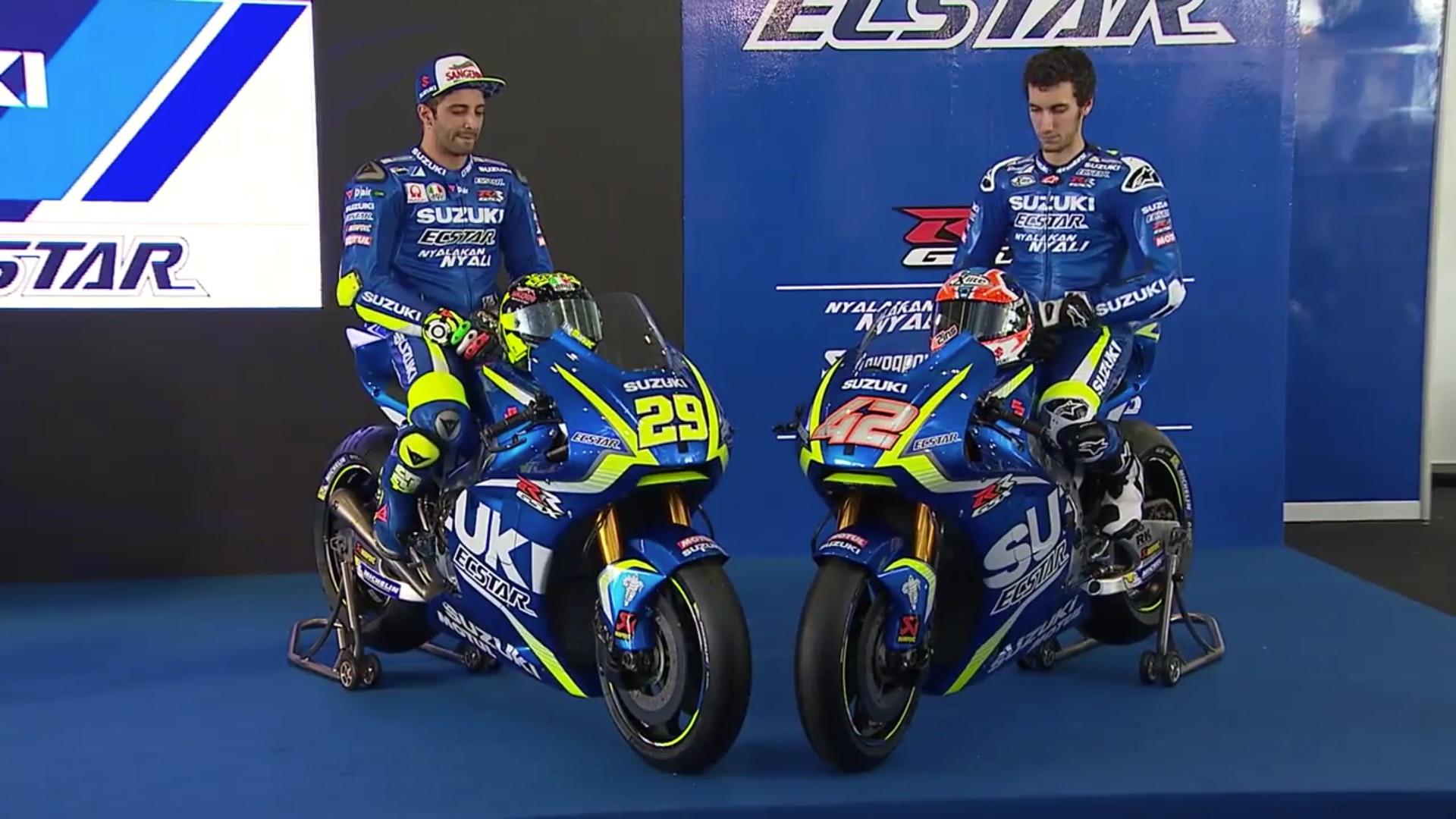 Presentación Suzuki MotoGP 2017 con Andrea Iannone y Álex Rins
