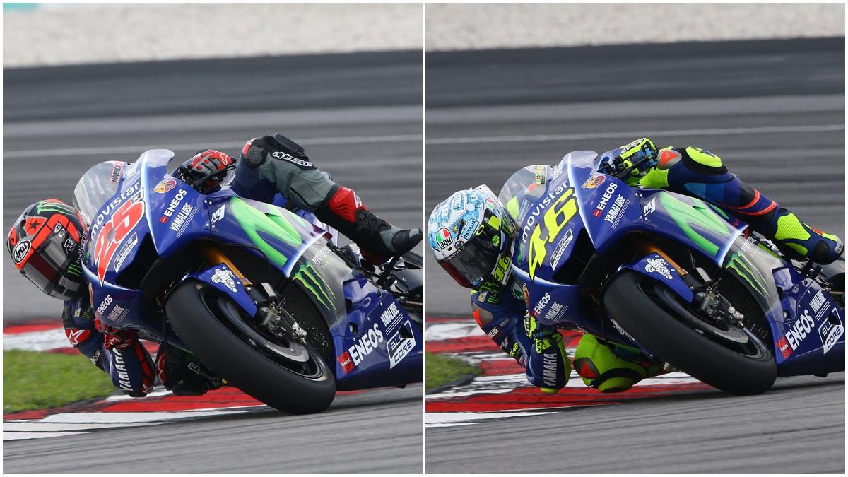 Maverick Viñales y Valentino Rossi, sorprendidos con la nueva Yamaha