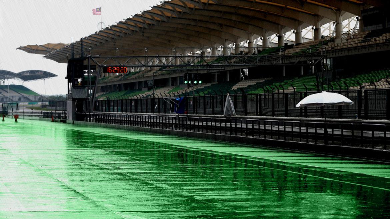 La lluvia, la kryptonita del circuito de Sepang