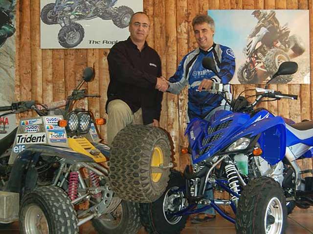 Pedregá, con Yamaha en el Dakar 2008