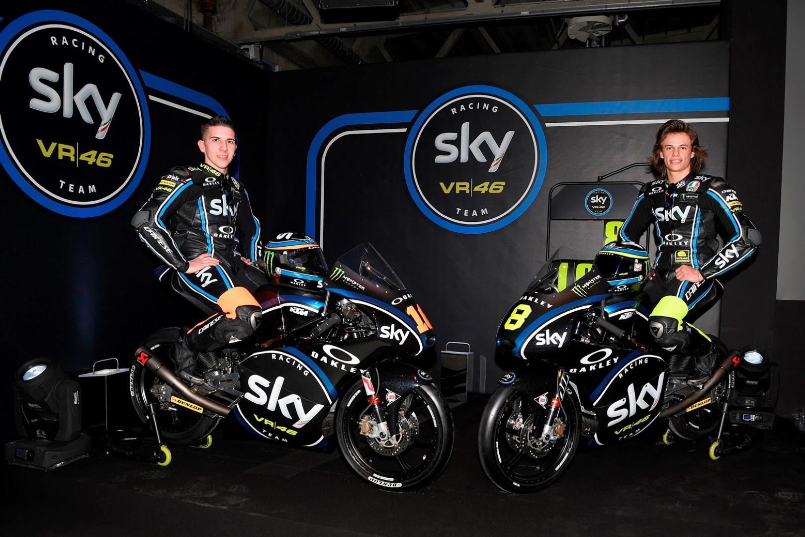 Presentado el Sky Racing Team VR46 para Moto2 y Moto3