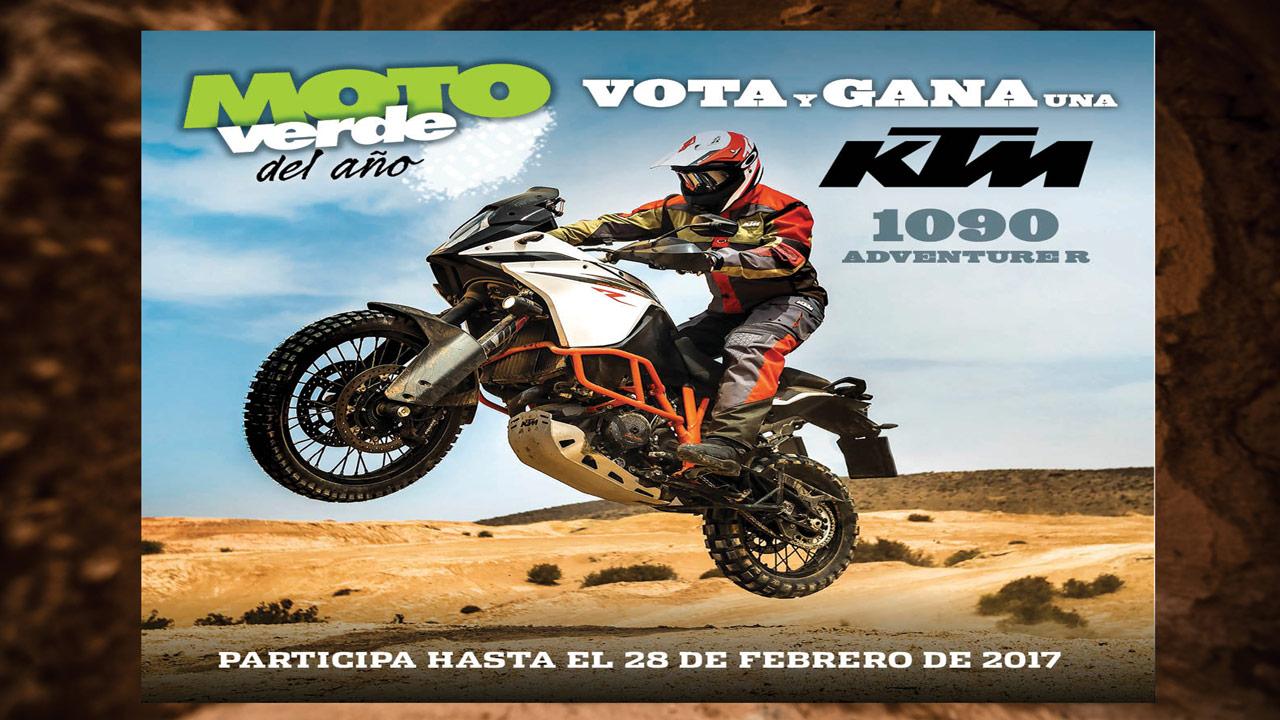 Gana una KTM 1090 Adventure R votando online en el concurso Moto Verde del Año