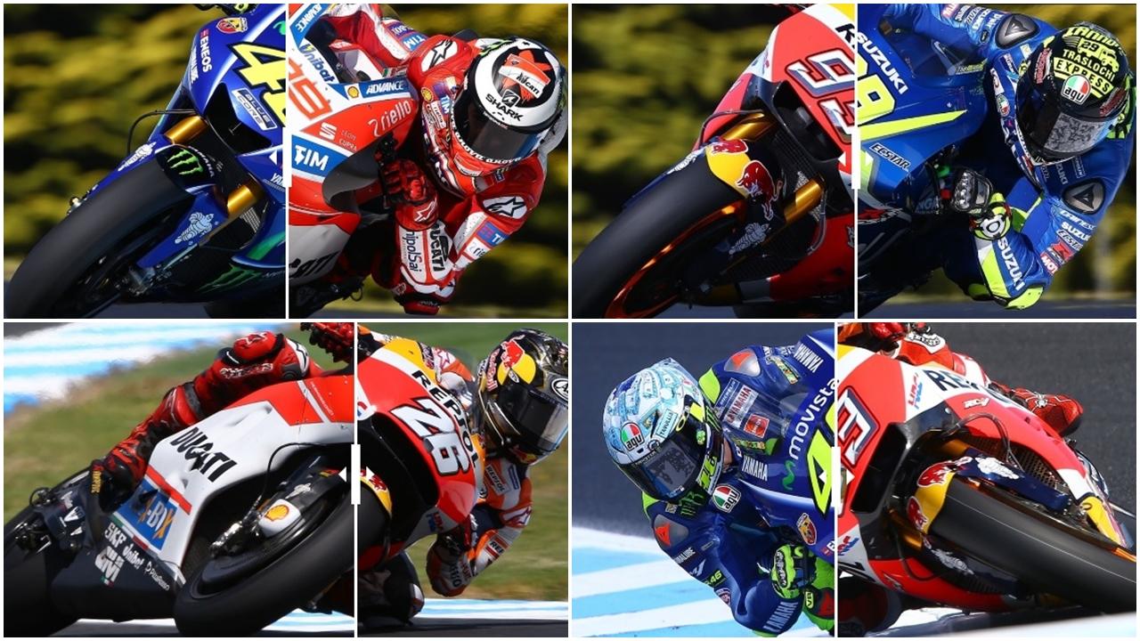 Comparativa interactiva de estilos de los pilotos de MotoGP 2017