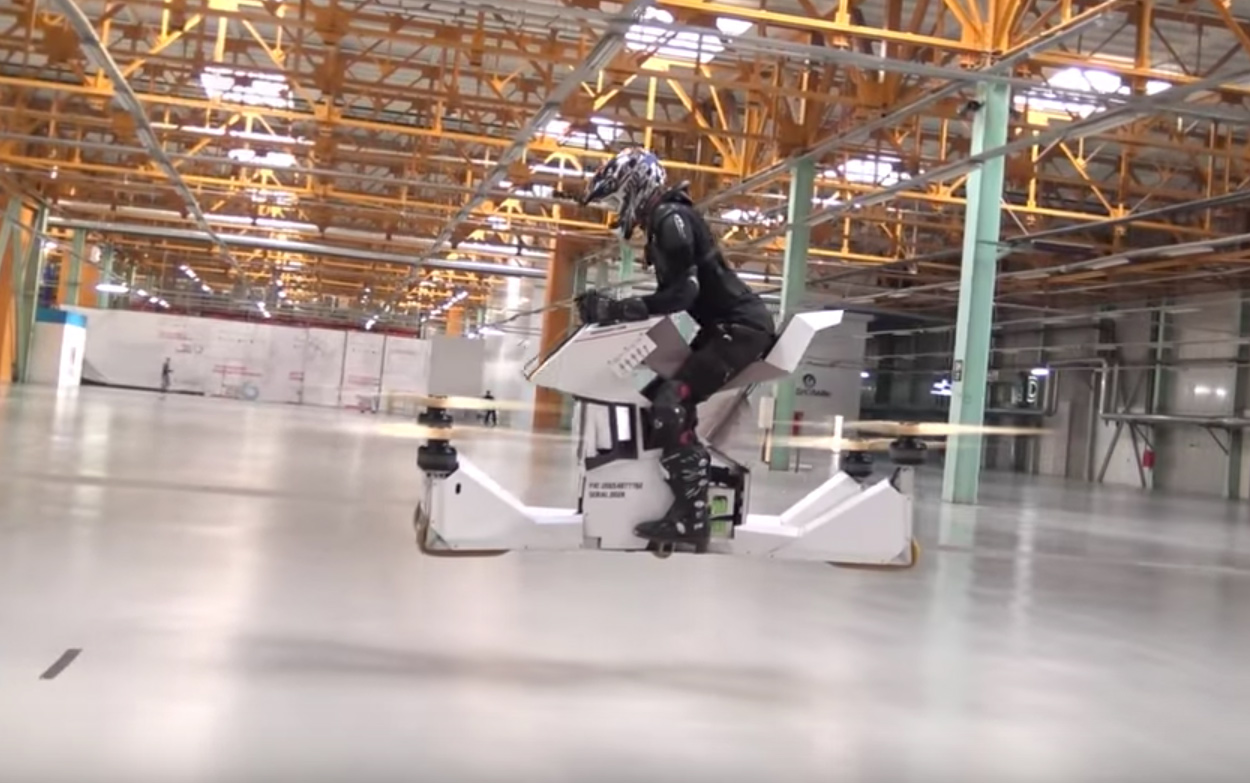 Hoversurf Scorpion, la moto voladora ya está aquí y es real