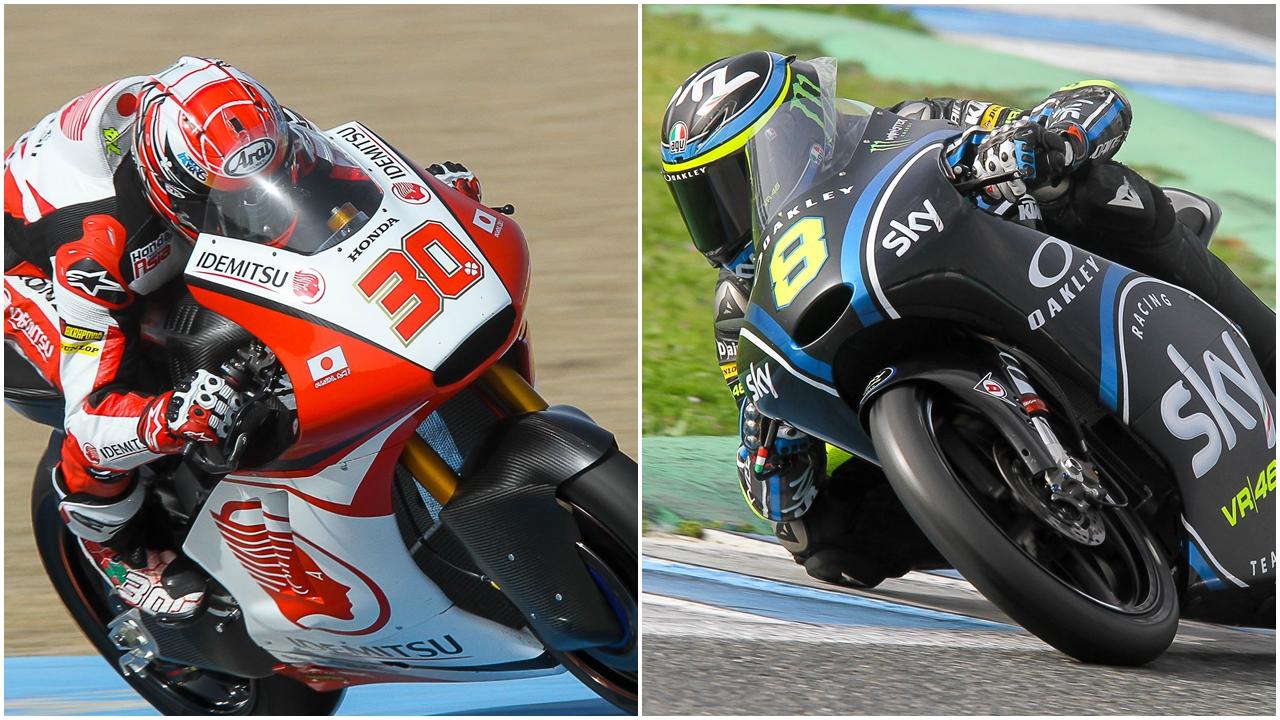 Takaaki Nakagami y Nicolò Bulega lideran el invierno en Moto2 y Moto3