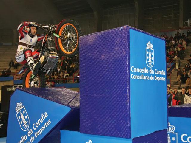 Toni Bou, campeón de España de trial indoor