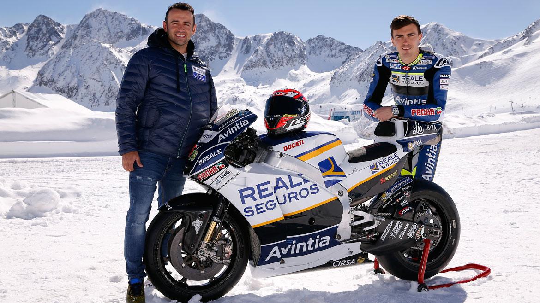 Reale Avintia Racing echa a rodar en la nieve