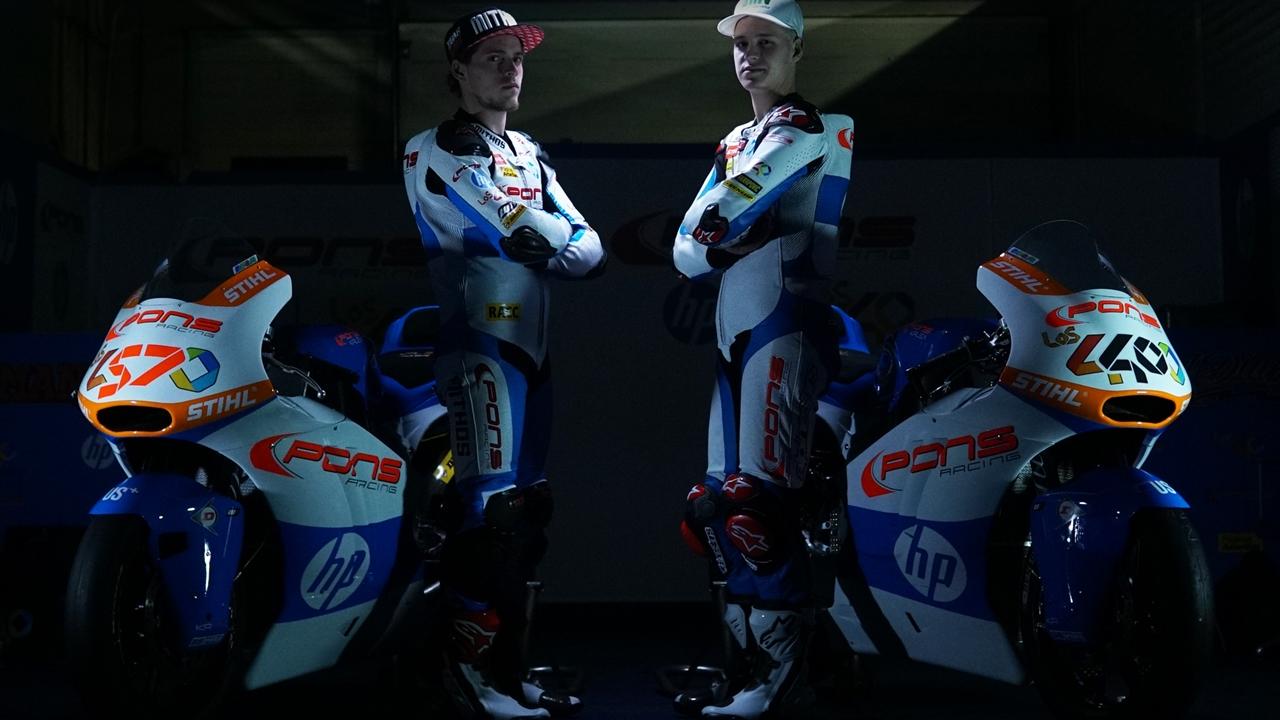 El Pons HP 40 de Fabio Quartararo y Edgar Pons, con los colores del título de Moto2