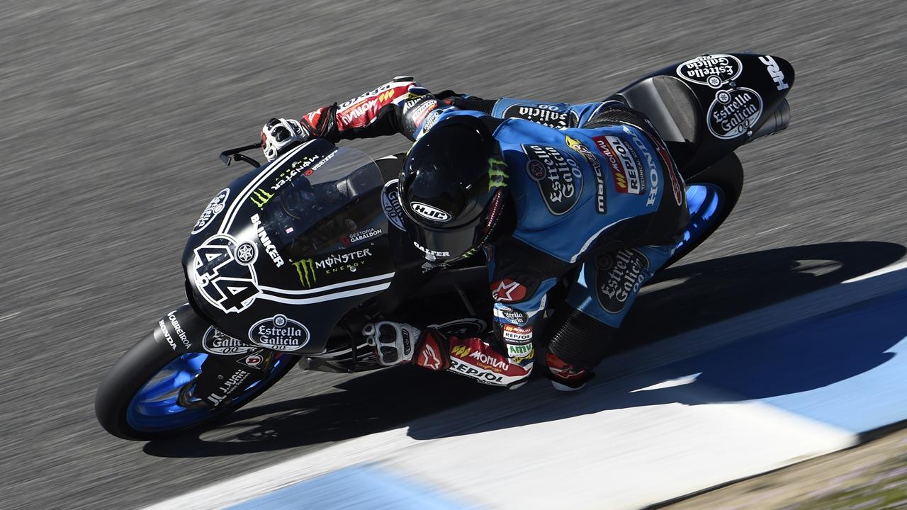 Miguel Oliveira y Arón Canet lideran el primer día de test de Moto2 y Moto3 en Jerez