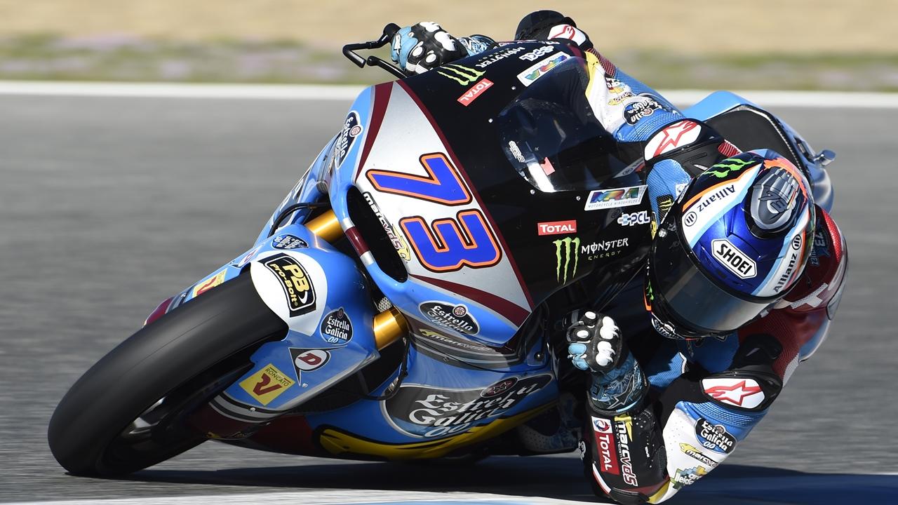 Álex Márquez rompe el récord de Moto2 y Nicolò Bulega lidera Moto3 en Jerez