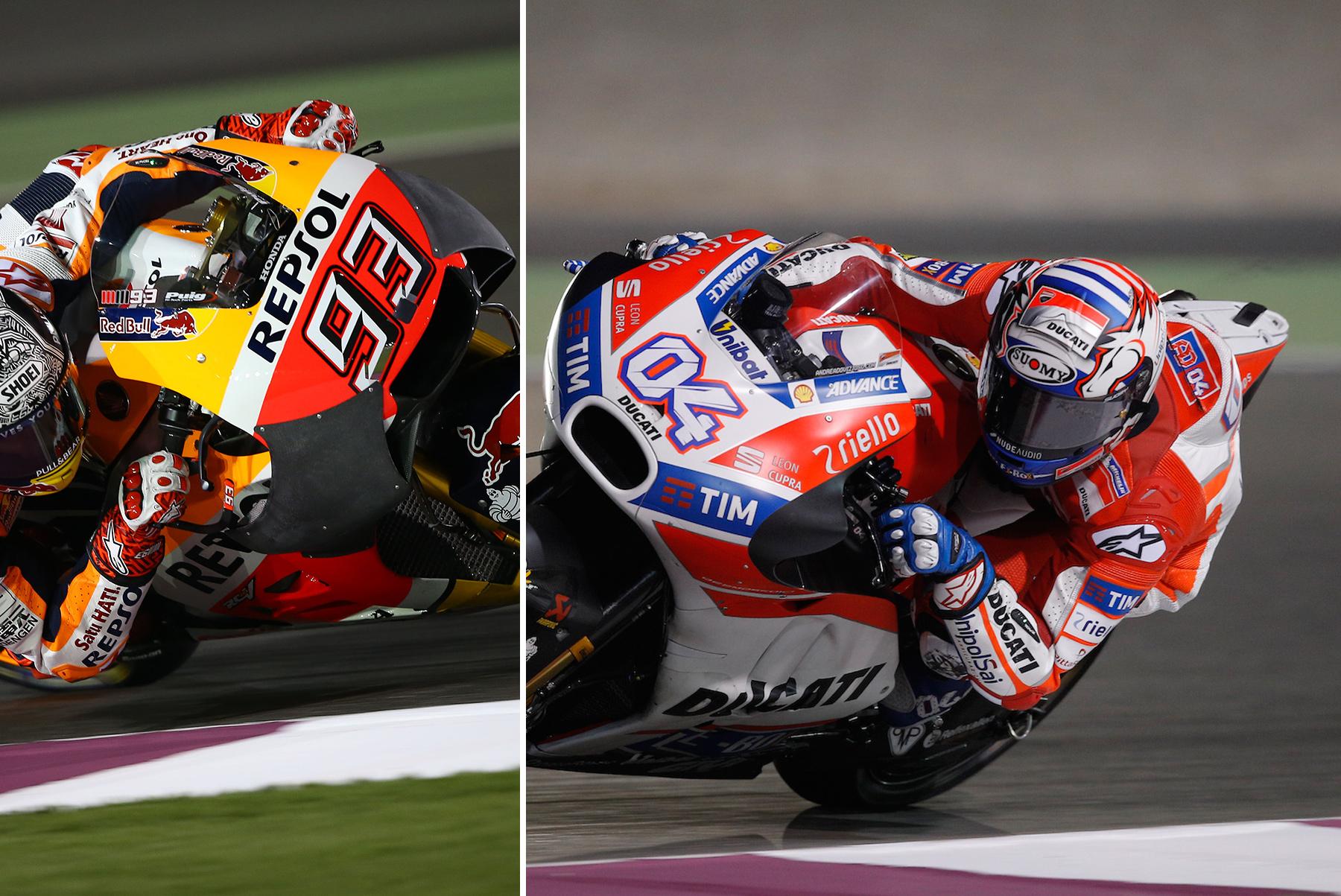 MotoGP Qatar Test 2017, Andrea Dovizioso al frente de un primer día con sorpresas