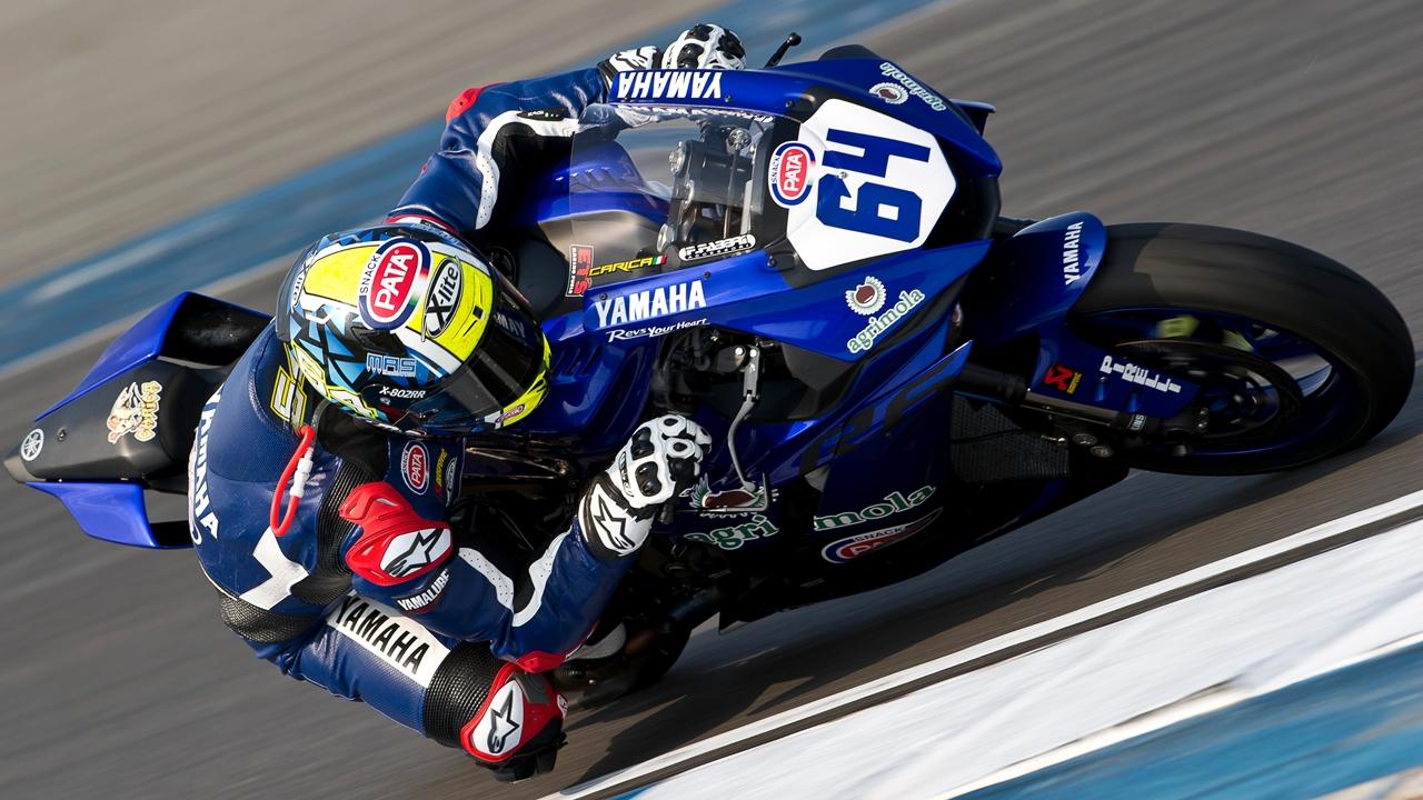 Federico Caricasulo se estrena en Supersport y la Yamaha R6 se bautiza en Tailandia