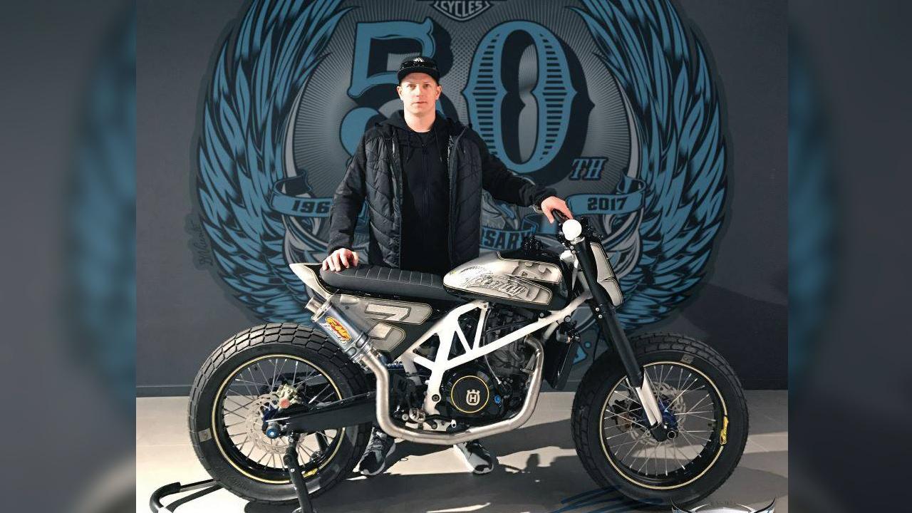 Husqvarna F1-690 Flat Tracker, la espectacular nueva moto de Räikkönen