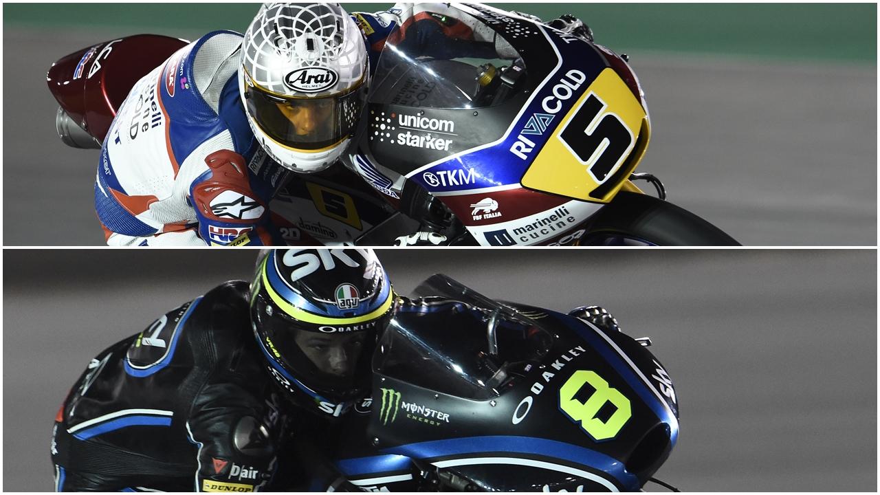 Romano Fenati y Nicolò Bulega lideran Moto3 2017 con dos españoles a rebufo