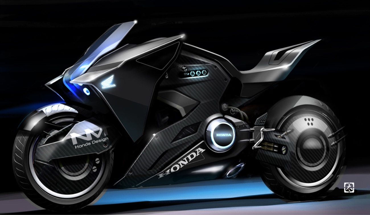 Honda NM4 Vultus, la moto de la Mayor Motoko en Ghost in the Shell