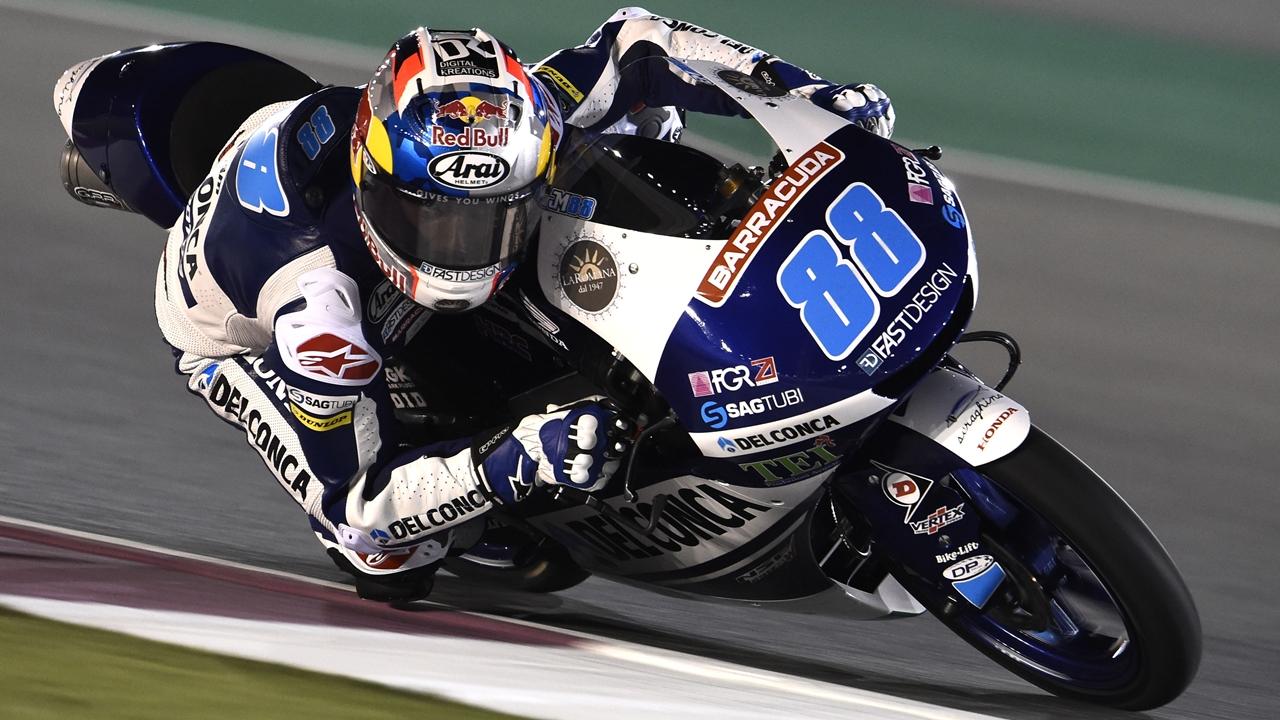 Jorge Martín toma el mando de Moto3 en los libres del viernes de Qatar