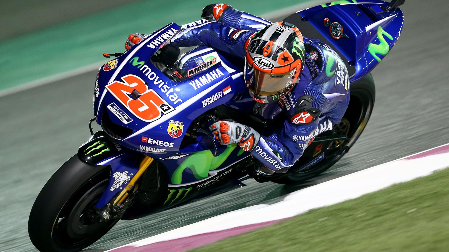 Maverick Viñales no da descanso, lidera los libres de MotoGP y Jorge Lorenzo pasará por Q1