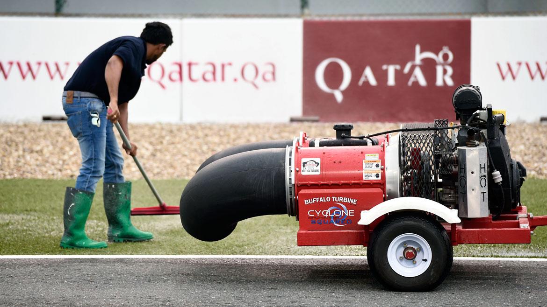 La lluvia amenaza las carreras de MotoGP en Qatar