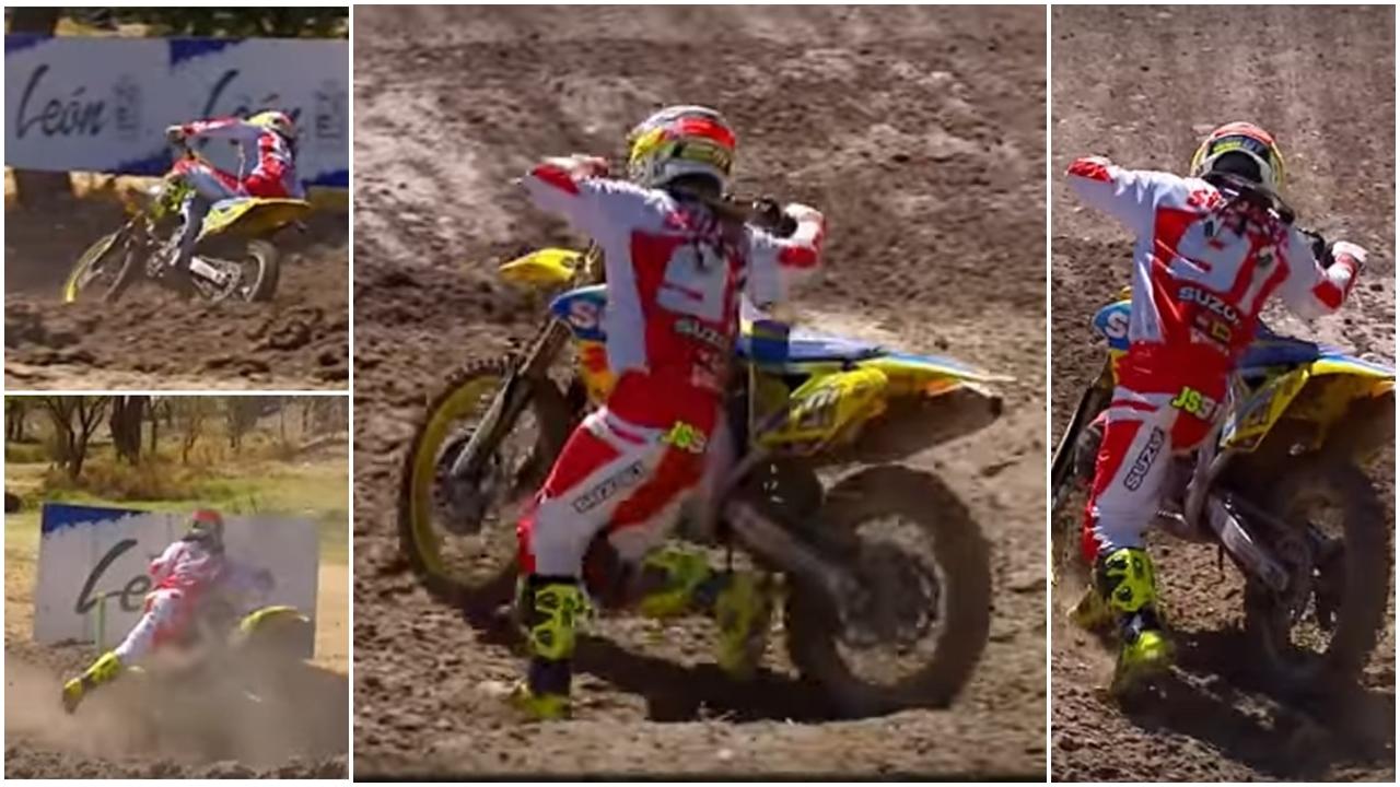 Jeremy Seewer replica en versión motocross la mítica salvada de Randy Mamola