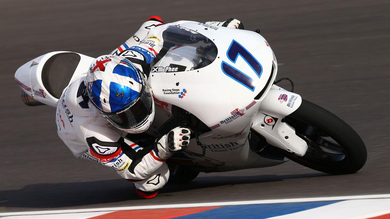 Pole de John McPhee en Moto3 y primera línea para Jorge Martín