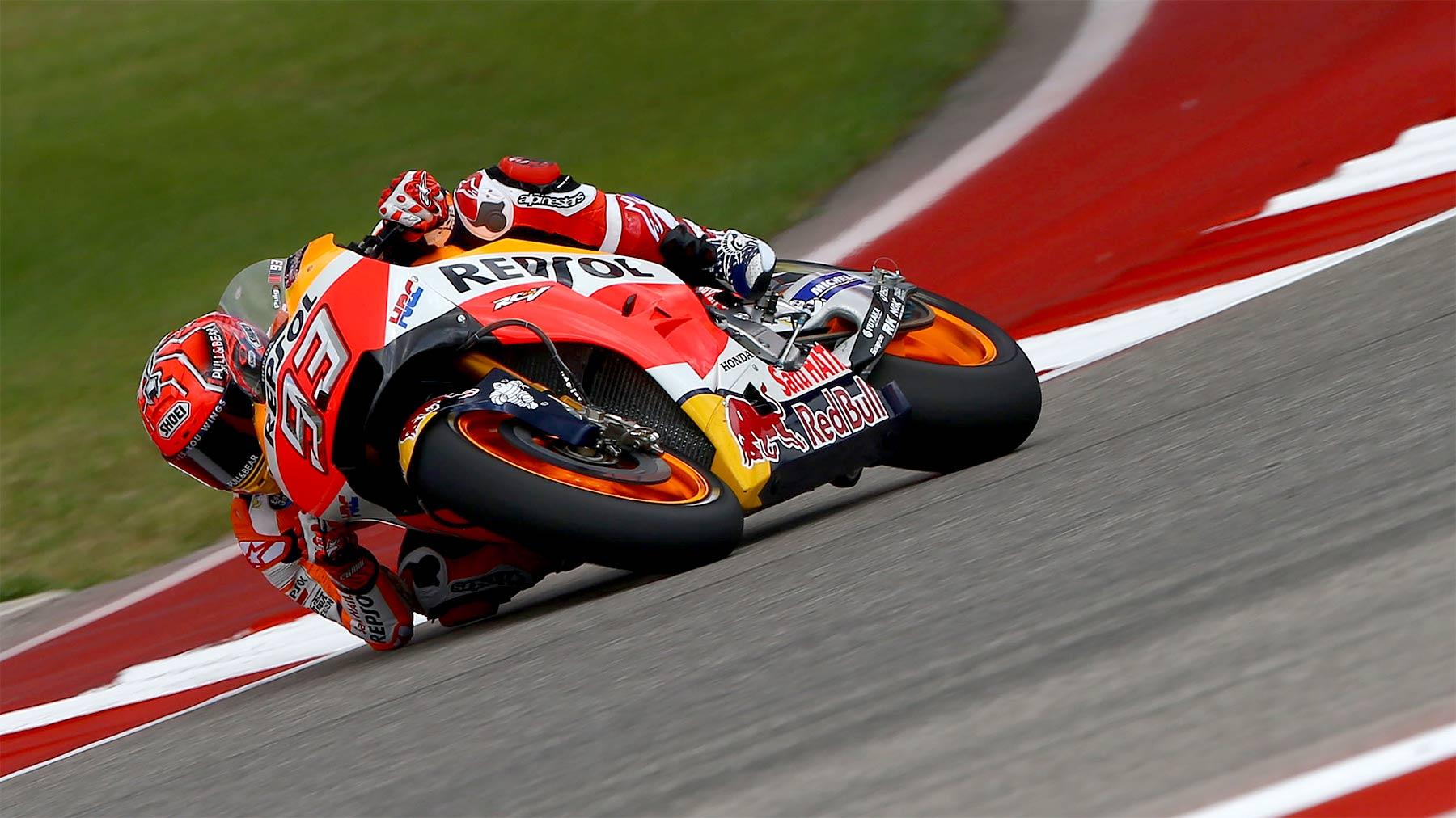 Marc Márquez se impone en los libres de MotoGP pero Yamaha presiona