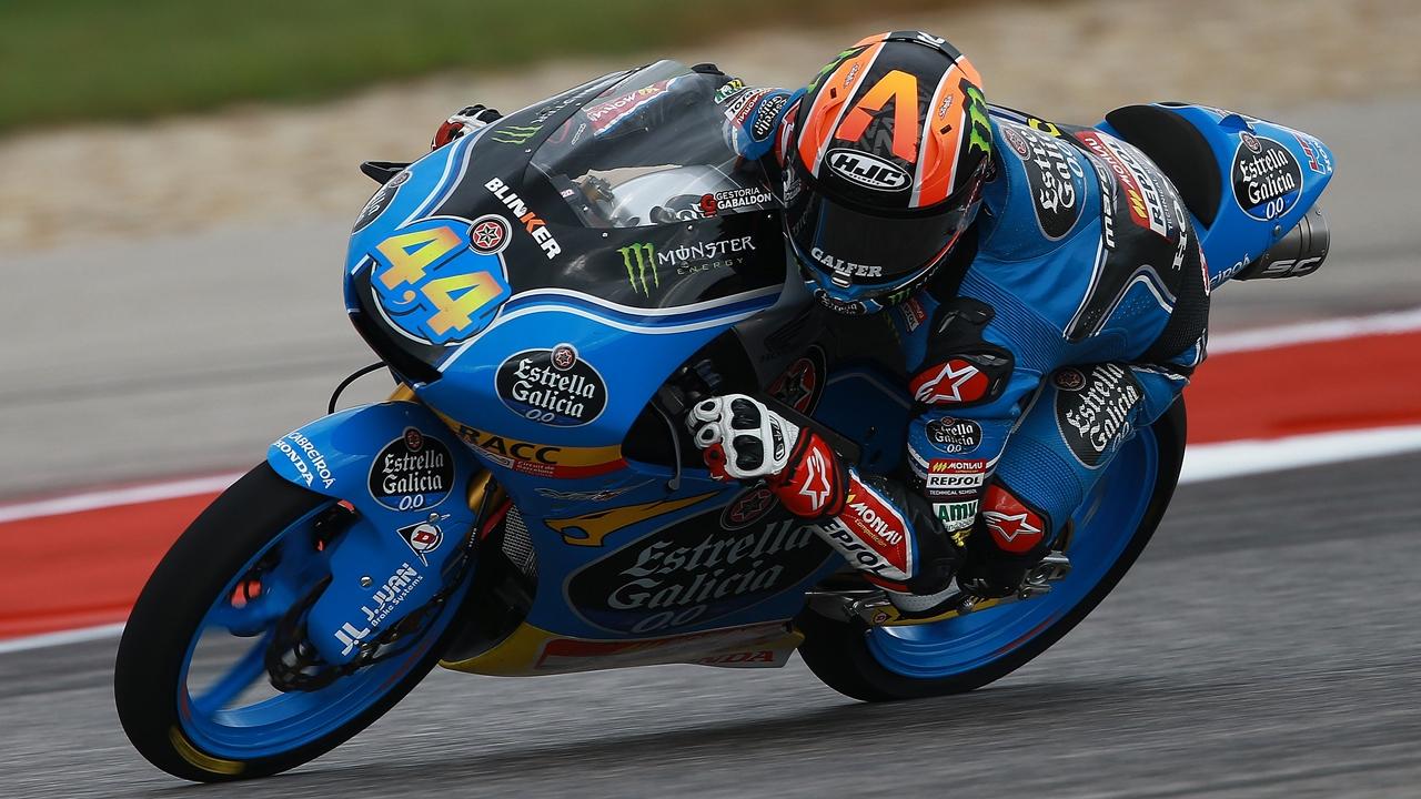 Arón Canet firma la pole en Moto3 y apunta hacia su primera victoria en Austin