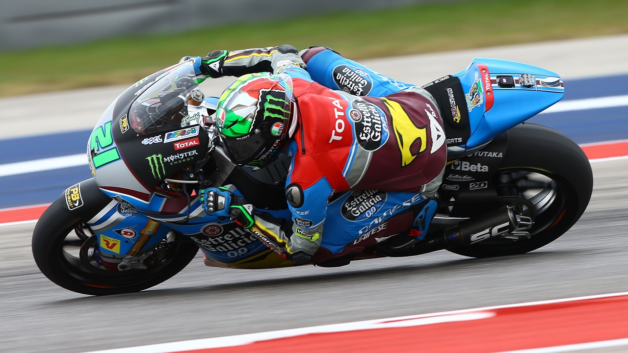 Franco Morbidelli hace la pole en Moto2 e impide el pleno español en Austin