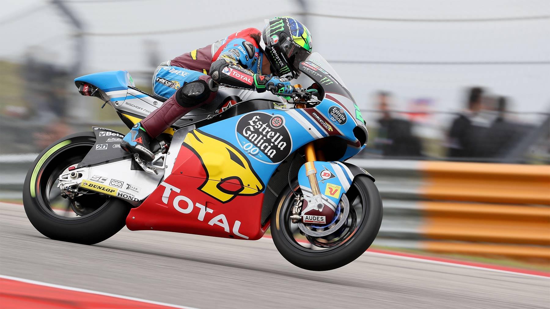 Franco Morbidelli manda y doma Moto2 en Austin: pole, récord y victoria