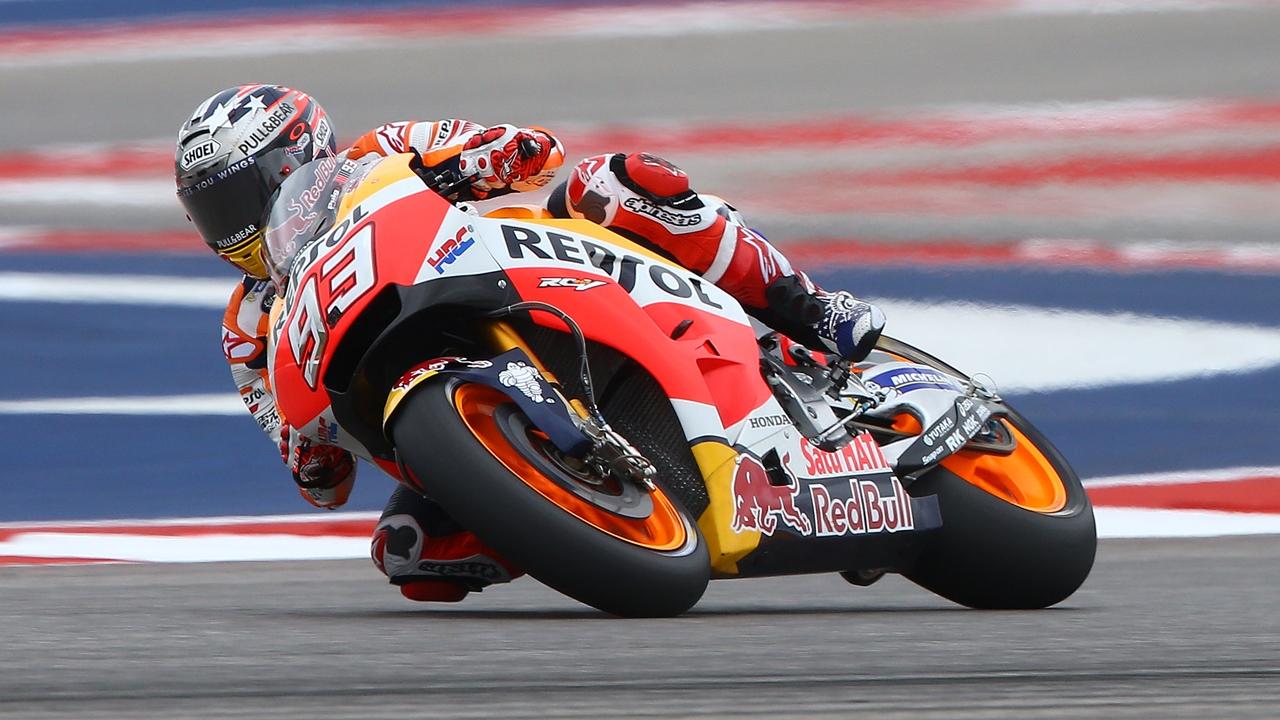 Marc Márquez gobierna Austin, Maverick Viñales cae y Valentino Rossi líder de MotoGP