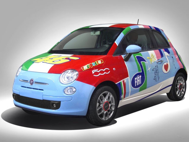 """Fiat 500 """"réplica Rossi"""""""