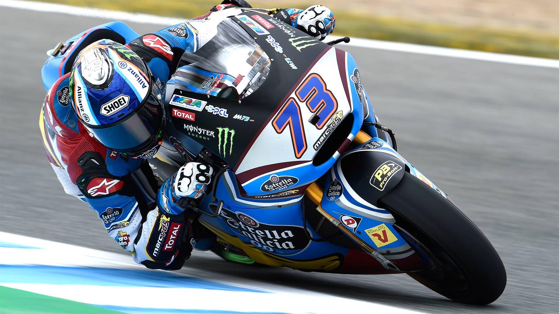 Álex Márquez corona con la pole de Moto2 un triplete español en Jerez