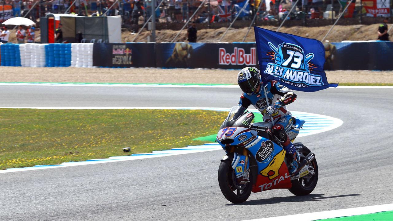 """Álex Márquez: """"La sensación que deja la primera victoria en Moto2 es de alivio"""""""