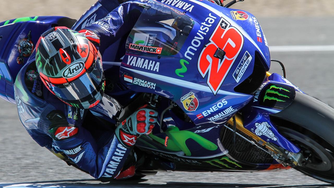 Maverick Viñales bate a Marc Márquez por dos milésimas en el test de Jerez