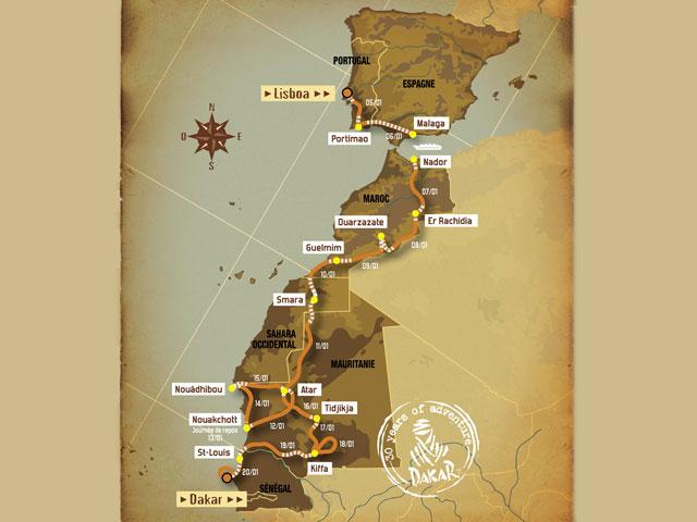 La organización del Dakar revisa la seguridad de Mauritania