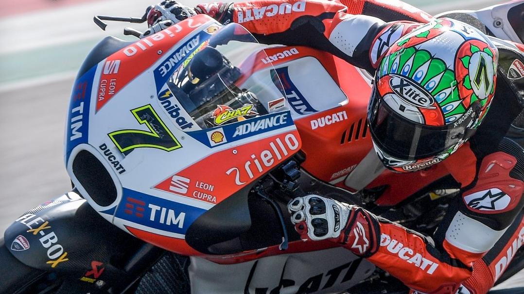 Chaz Davies prueba la Ducati Desmosedici GP17 de MotoGP