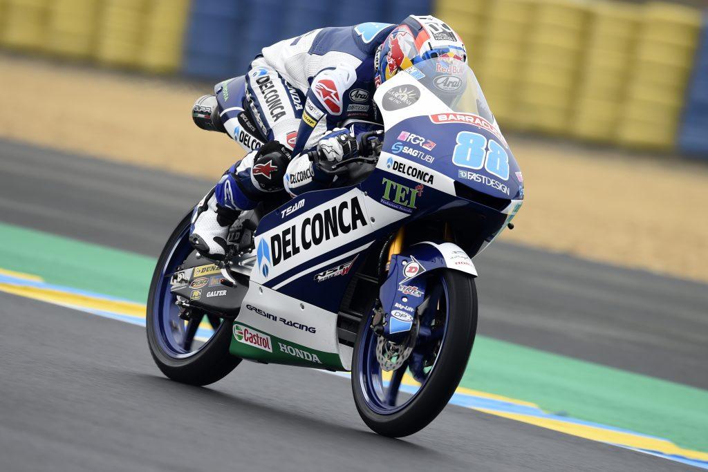 Jorge Martin firma la pole en una sesión de alta tensión en Moto3