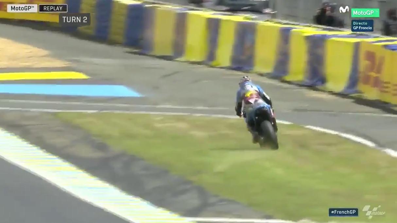 Jack Miller da el susto del año en Le Mans, salió ileso