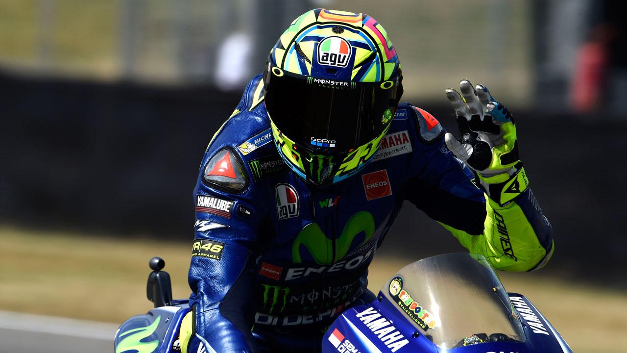 """Valentino Rossi. """"No me esperaba tanto dolor en el brazo"""""""