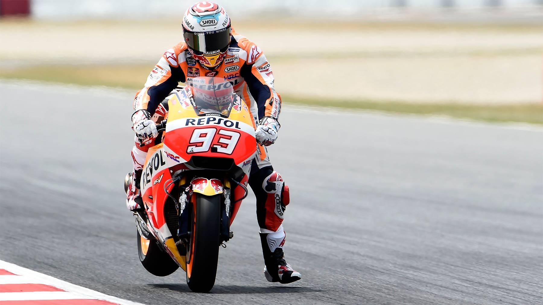 Primeros libres de MotoGP para Marc Márquez, Jorge Lorenzo segundo