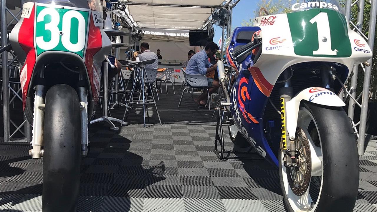 Sito Pons exhibe las tres motos más importantes de su vida
