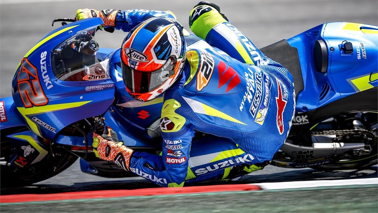Álex Rins vuelve a subirse a la Suzuki MotoGP casi dos meses después