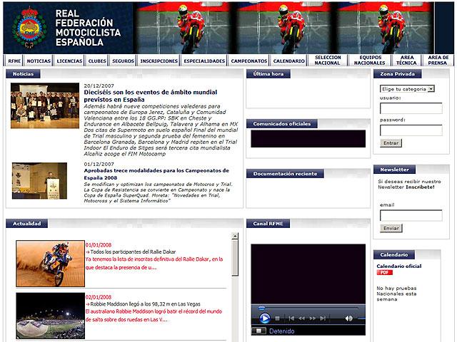 Nueva web de la RFME