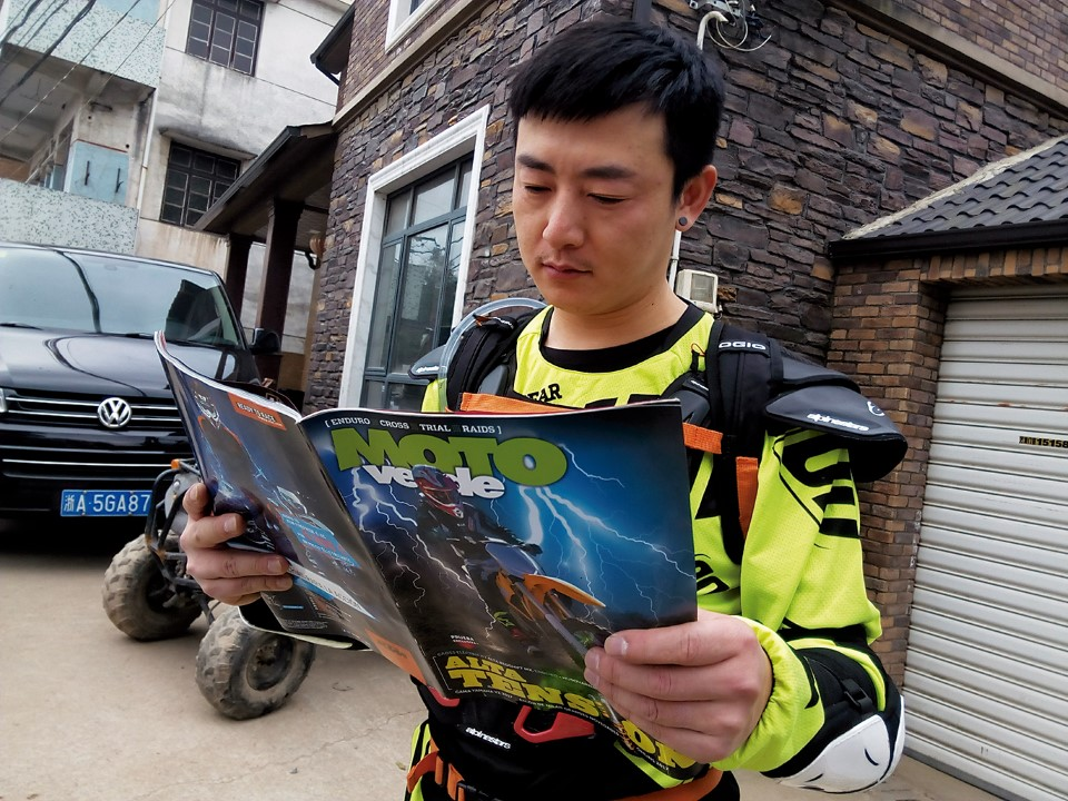 MOTO VERDE se fue a hacer enduLo a China