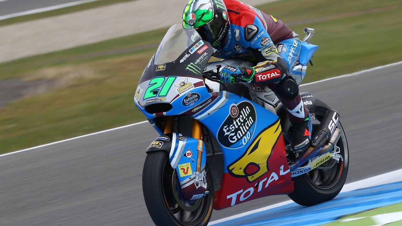 Franco Morbidelli festeja su salto a MotoGP firmando la pole en Assen